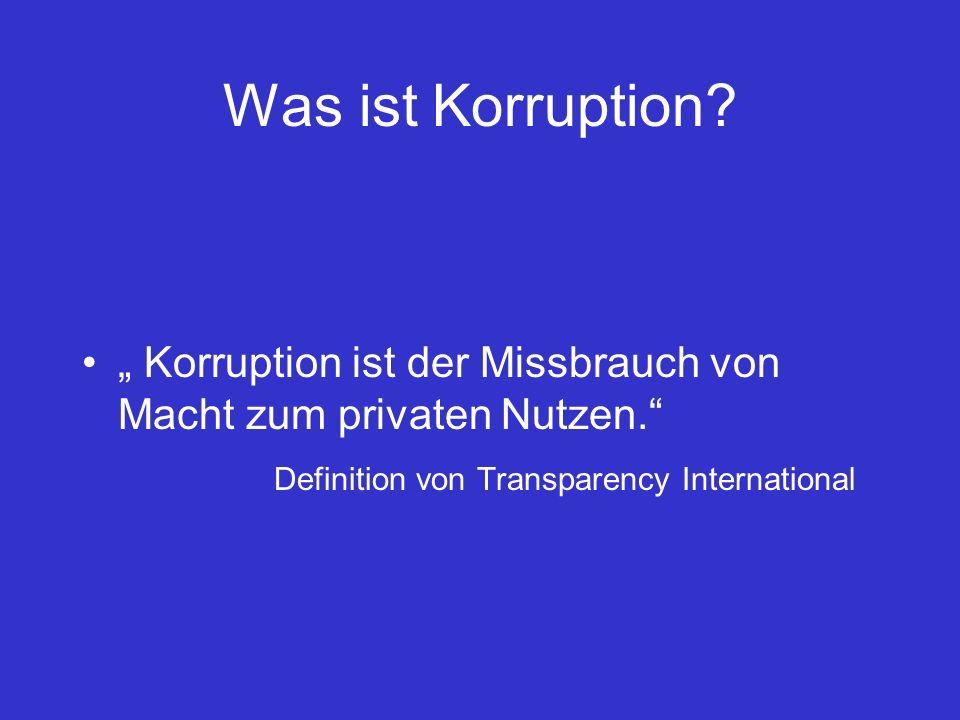 Was ist Korruption.