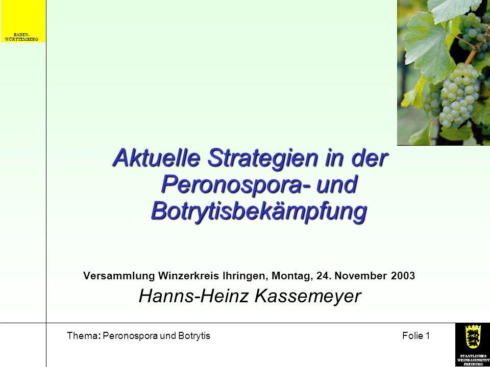 Versammlung Winzerkreis Ihringen, Montag, 24. November 2003
