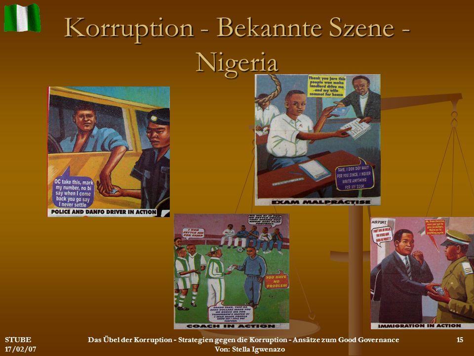 Korruption - Bekannte Szene - Nigeria