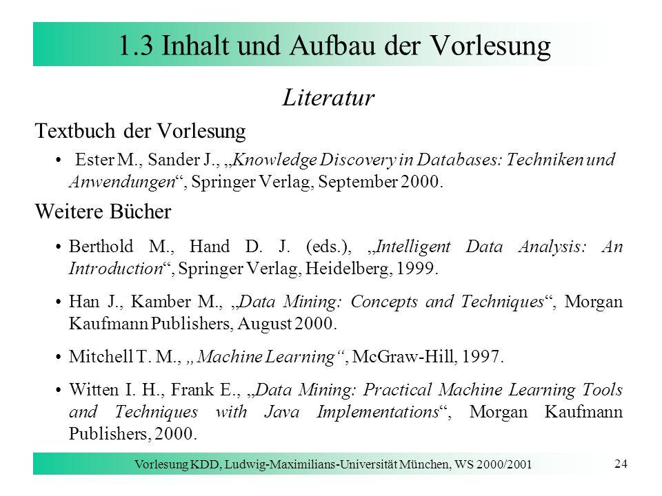 1.3 Inhalt und Aufbau der Vorlesung