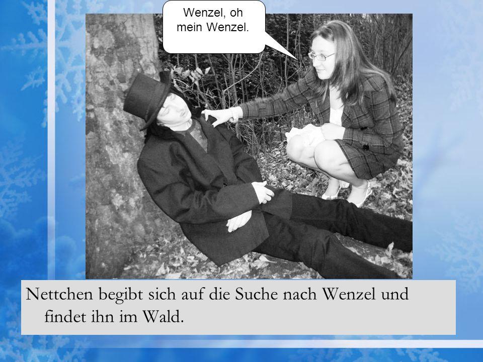 Nettchen begibt sich auf die Suche nach Wenzel und findet ihn im Wald.