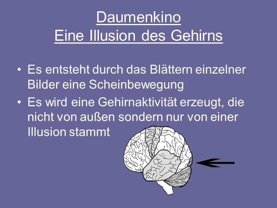 Daumenkino Eine Illusion des Gehirns