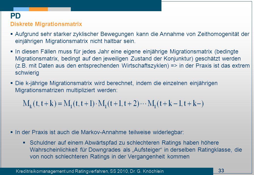 PD Diskrete Migrationsmatrix