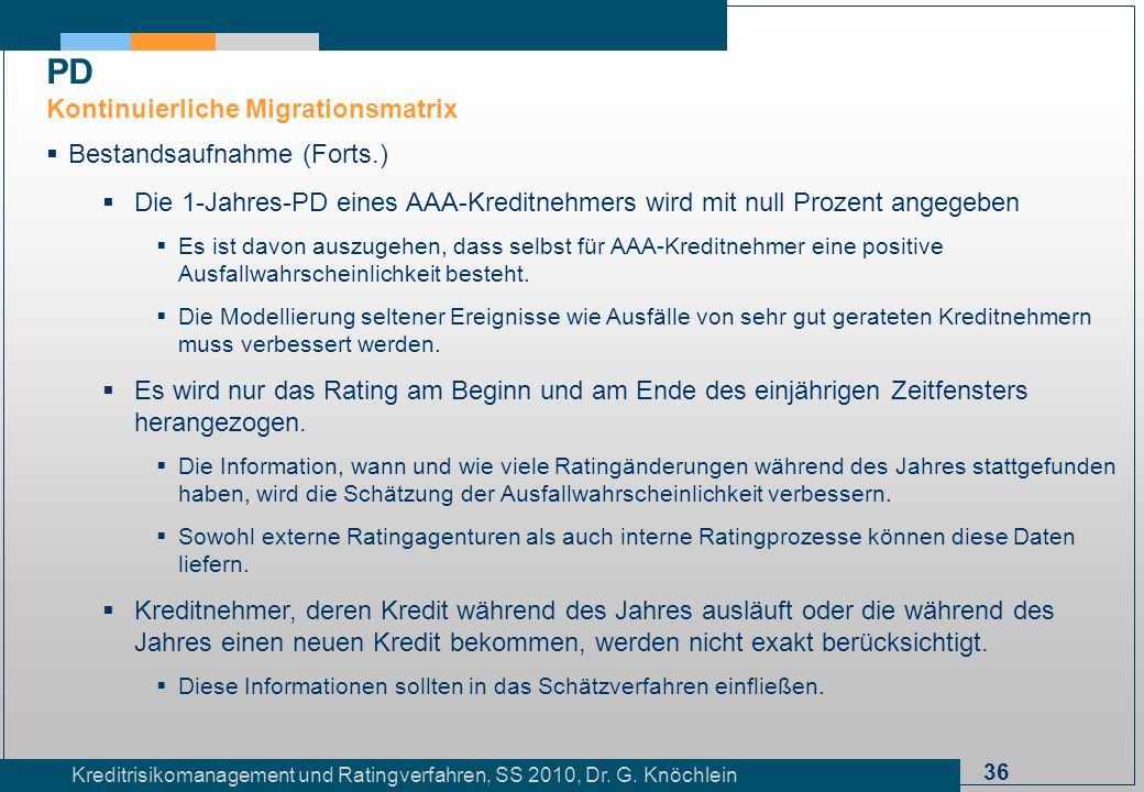 PD Kontinuierliche Migrationsmatrix Bestandsaufnahme (Forts.)