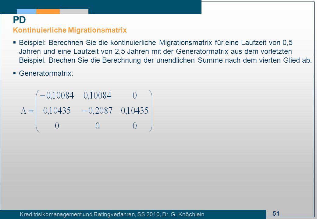 PD Kontinuierliche Migrationsmatrix