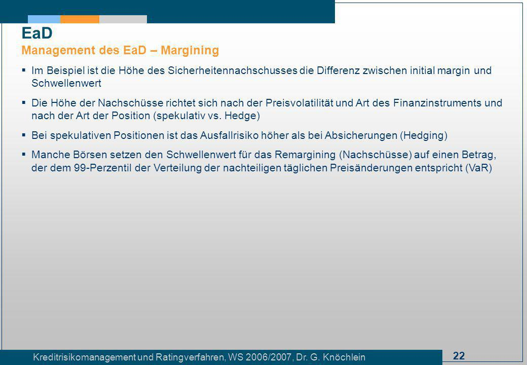 EaD Management des EaD – Margining
