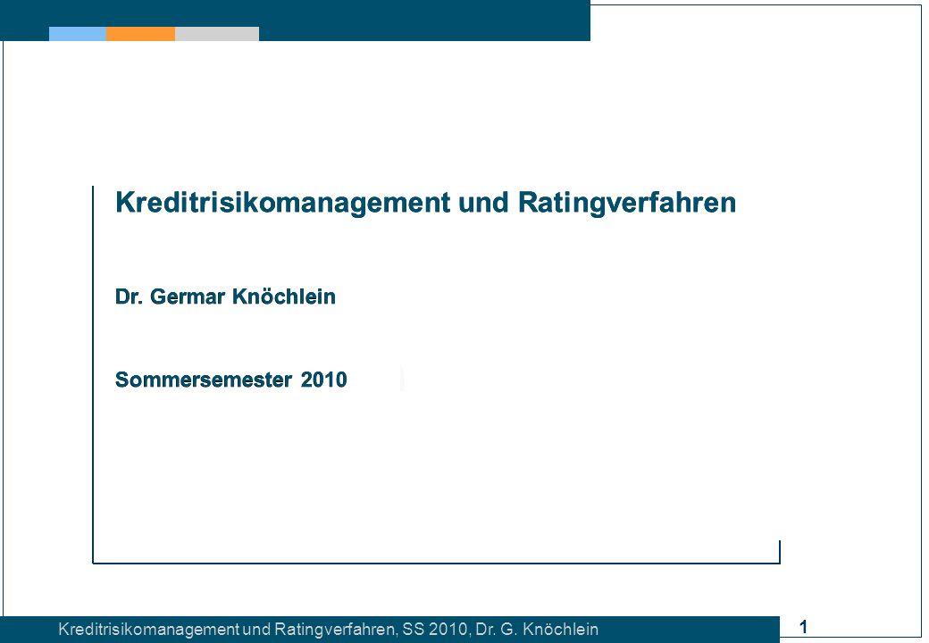 Kreditrisikomanagement und Ratingverfahren
