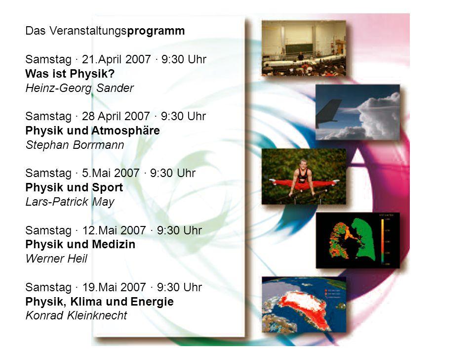 Das Veranstaltungsprogramm