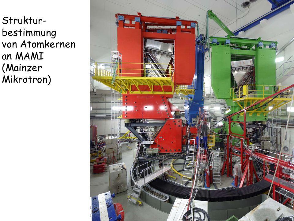 Struktur-bestimmung von Atomkernen an MAMI (Mainzer Mikrotron)