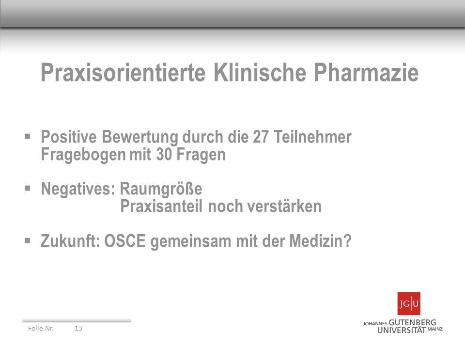 Praxisorientierte Klinische Pharmazie