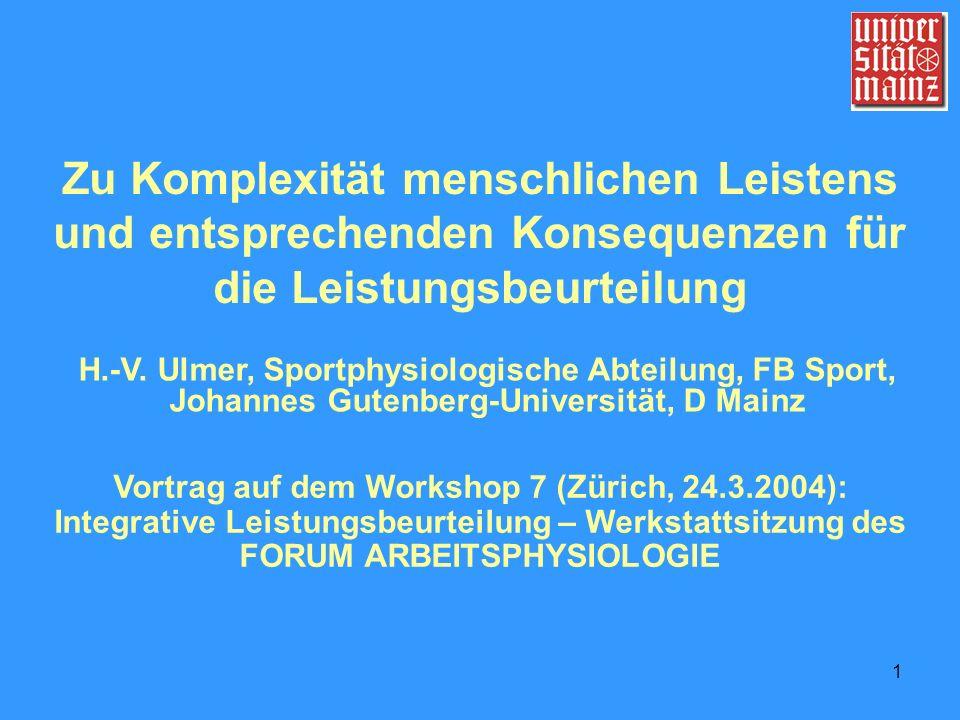 Vortrag auf dem Workshop 7 (Zürich, 24.3.2004):