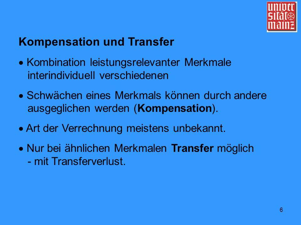 Kompensation und Transfer