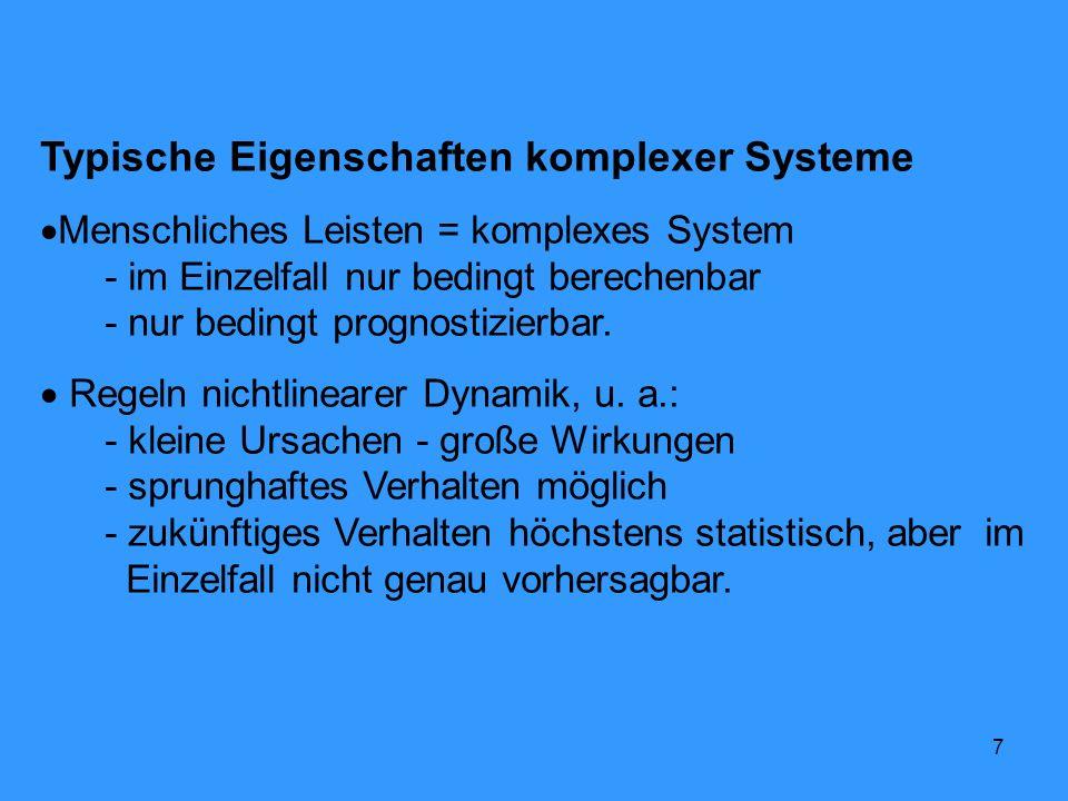 Typische Eigenschaften komplexer Systeme