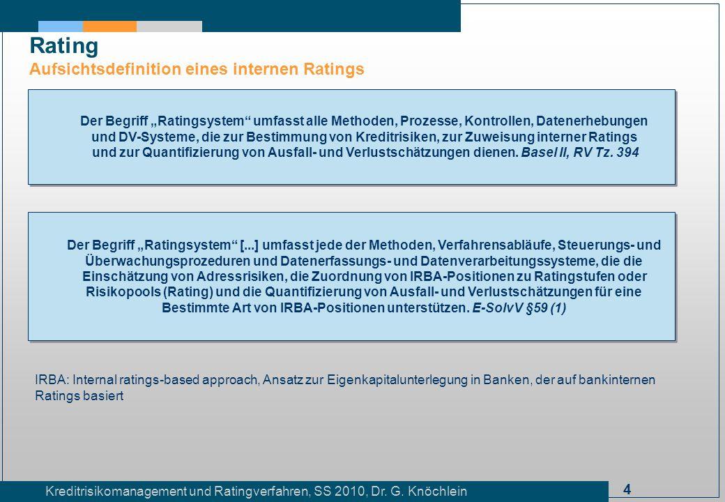 Bestimmte Art von IRBA-Positionen unterstützen. E-SolvV §59 (1)