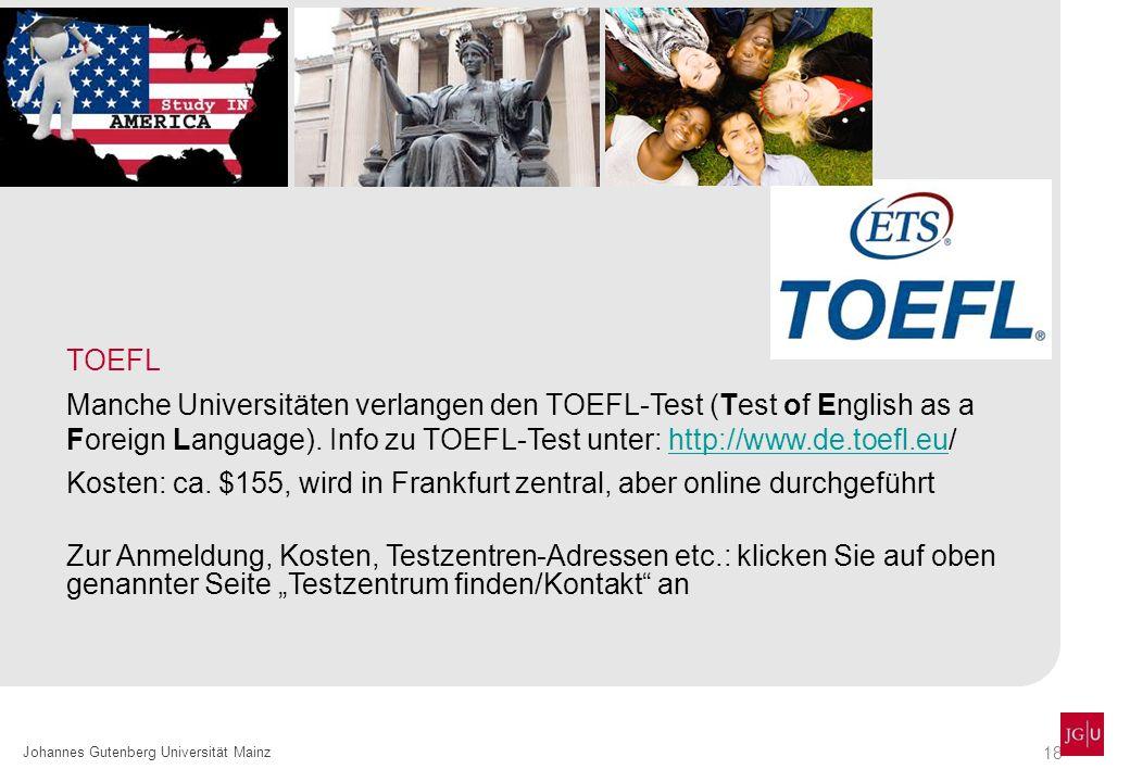 Kosten: ca. $155, wird in Frankfurt zentral, aber online durchgeführt