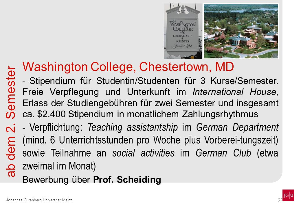 Washington College, Chestertown, MD