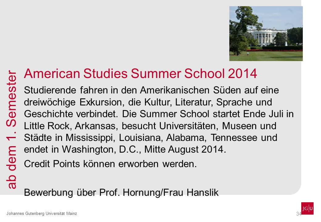 American Studies Summer School 2014