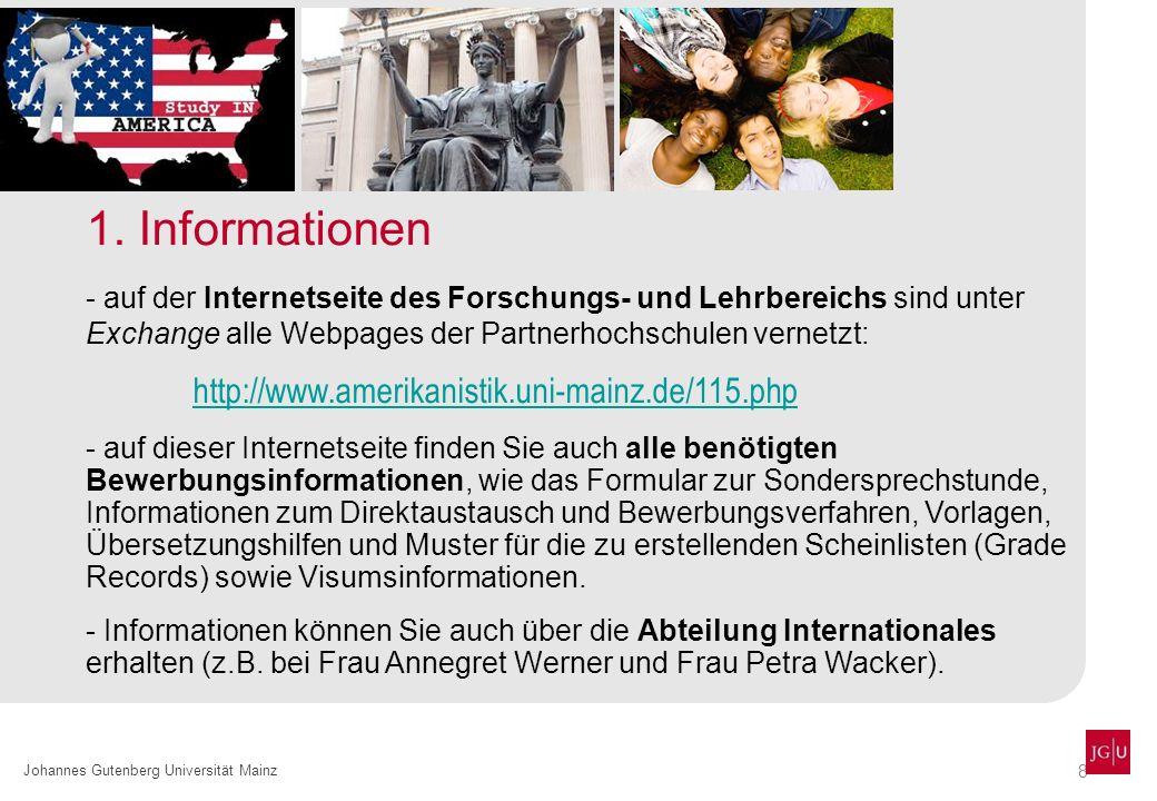 1. Informationen http://www.amerikanistik.uni-mainz.de/115.php
