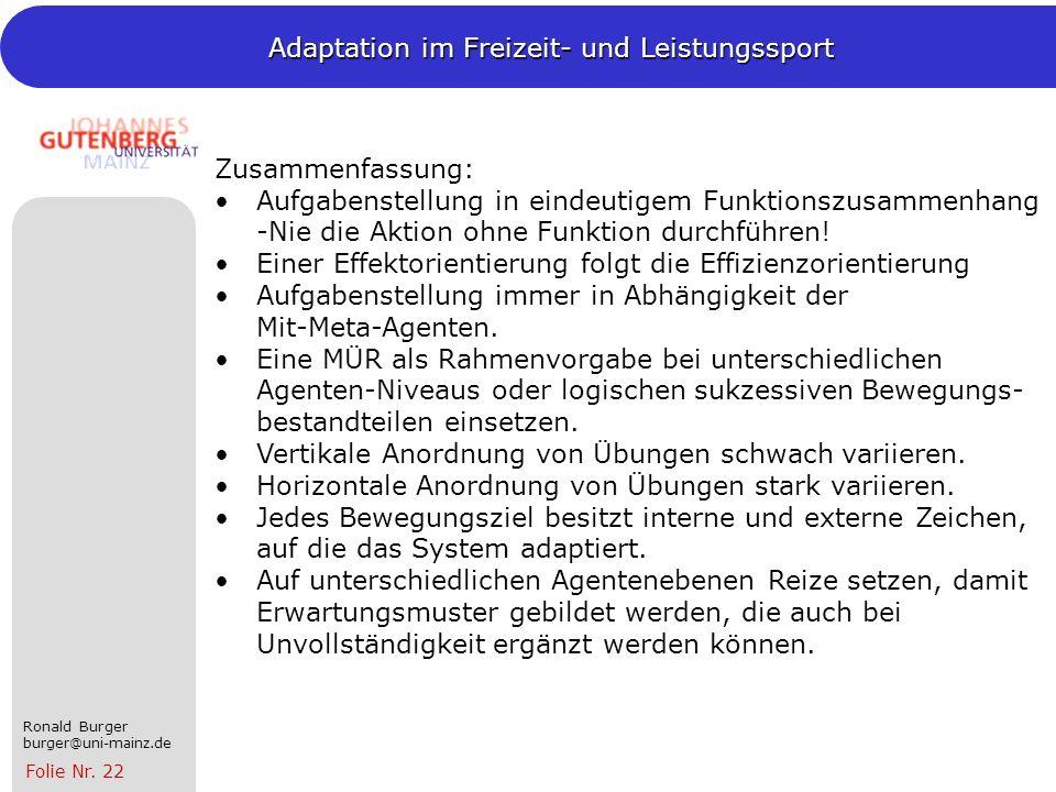 Zusammenfassung: Aufgabenstellung in eindeutigem Funktionszusammenhang -Nie die Aktion ohne Funktion durchführen!