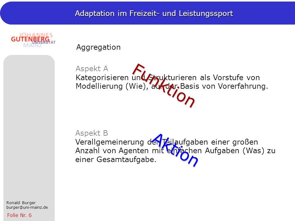 Funktion Aktion Aggregation
