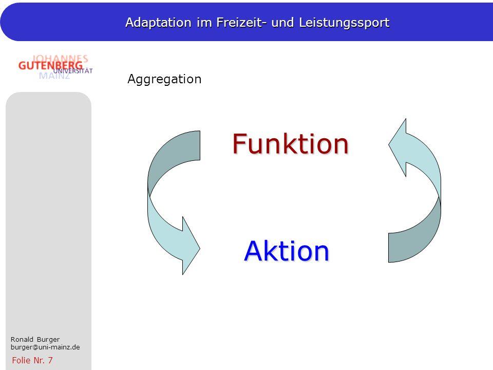 Aggregation Funktion Aktion