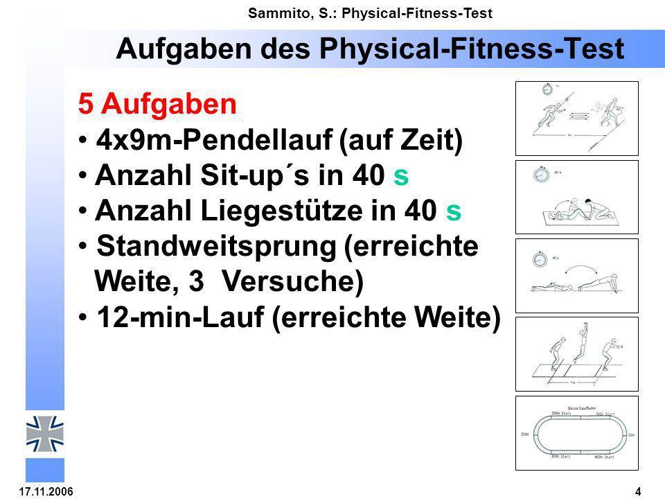 Aufgaben des Physical-Fitness-Test