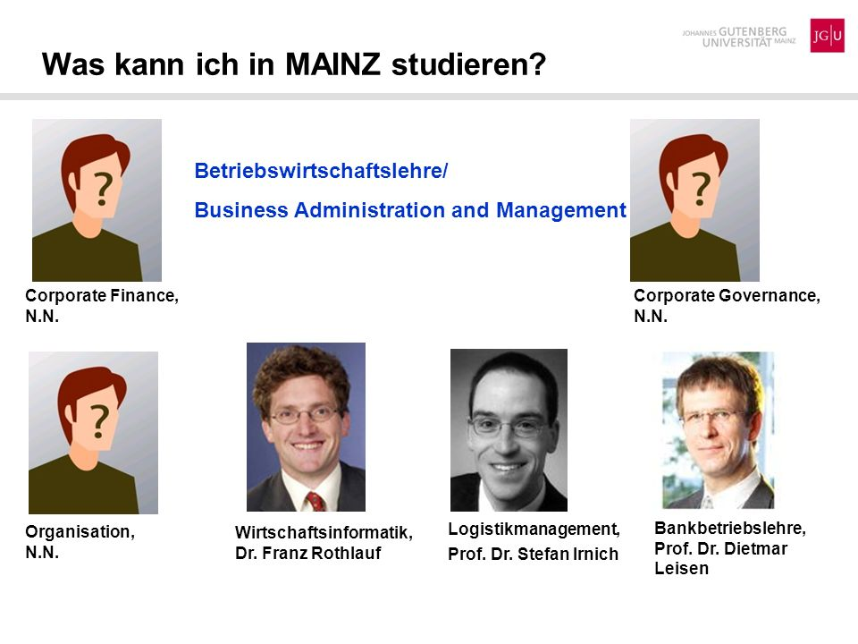 Was kann ich in MAINZ studieren