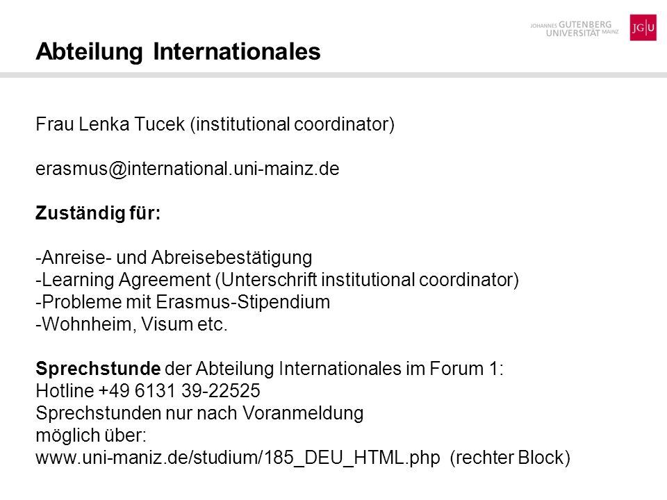 Abteilung Internationales
