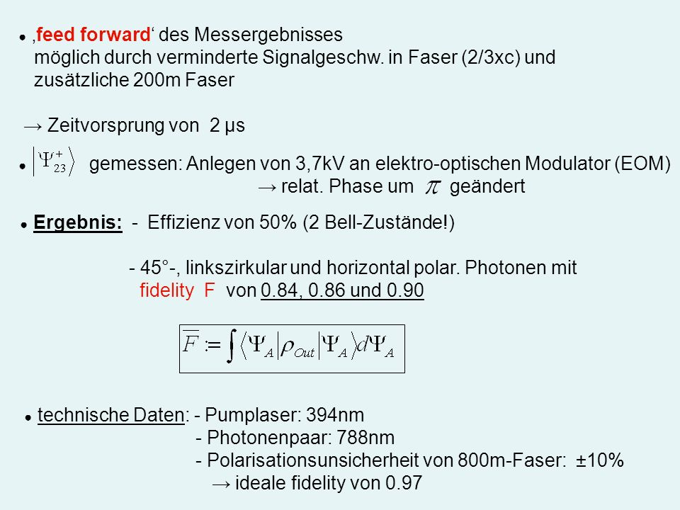 möglich durch verminderte Signalgeschw. in Faser (2/3xc) und