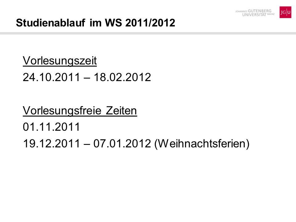 Vorlesungsfreie Zeiten 01.11.2011