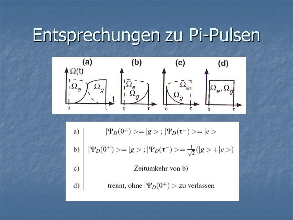 Entsprechungen zu Pi-Pulsen