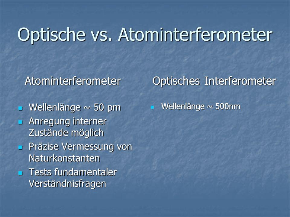 Optische vs. Atominterferometer