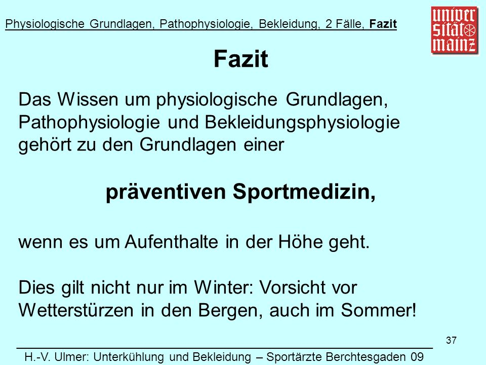 präventiven Sportmedizin,