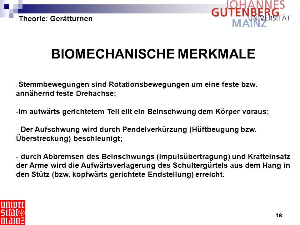 BIOMECHANISCHE MERKMALE
