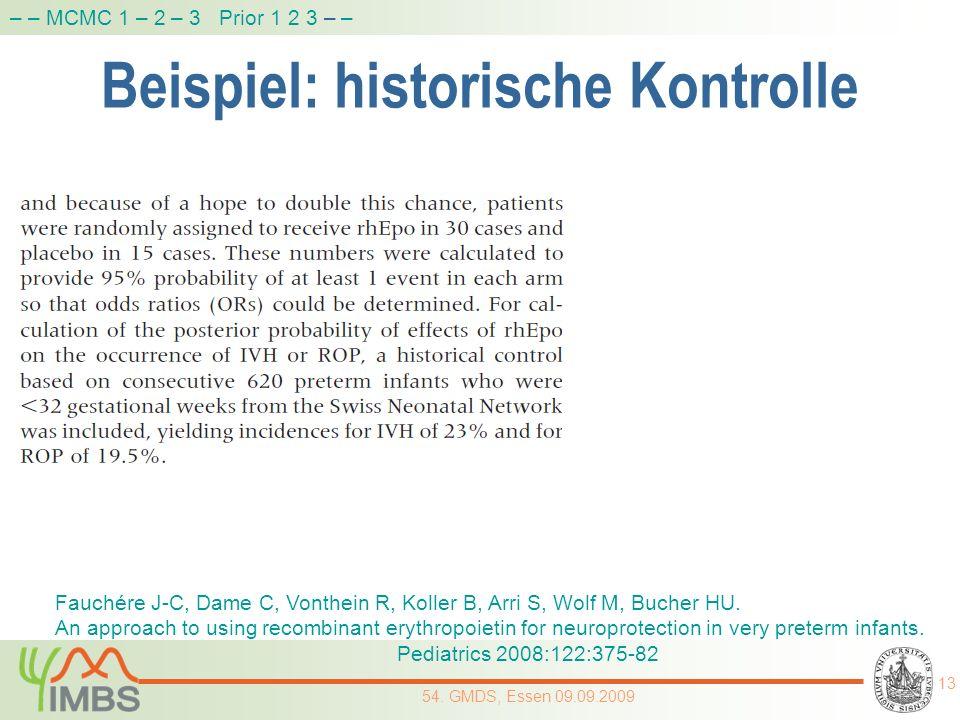 Beispiel: historische Kontrolle