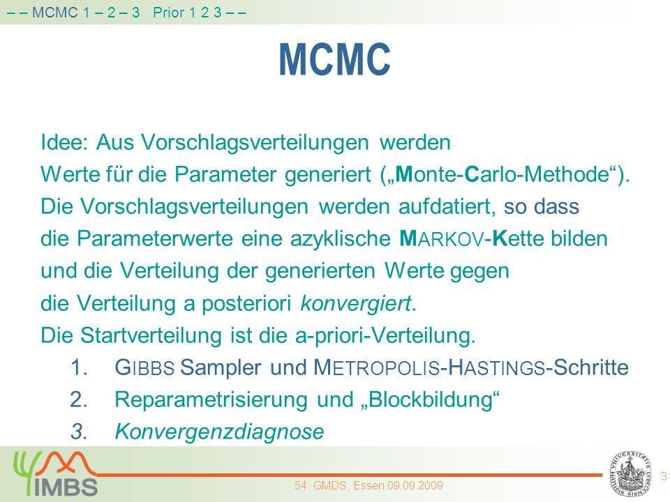 MCMC Idee: Aus Vorschlagsverteilungen werden
