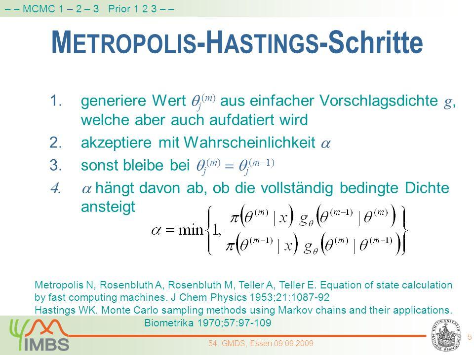 METROPOLIS-HASTINGS-Schritte