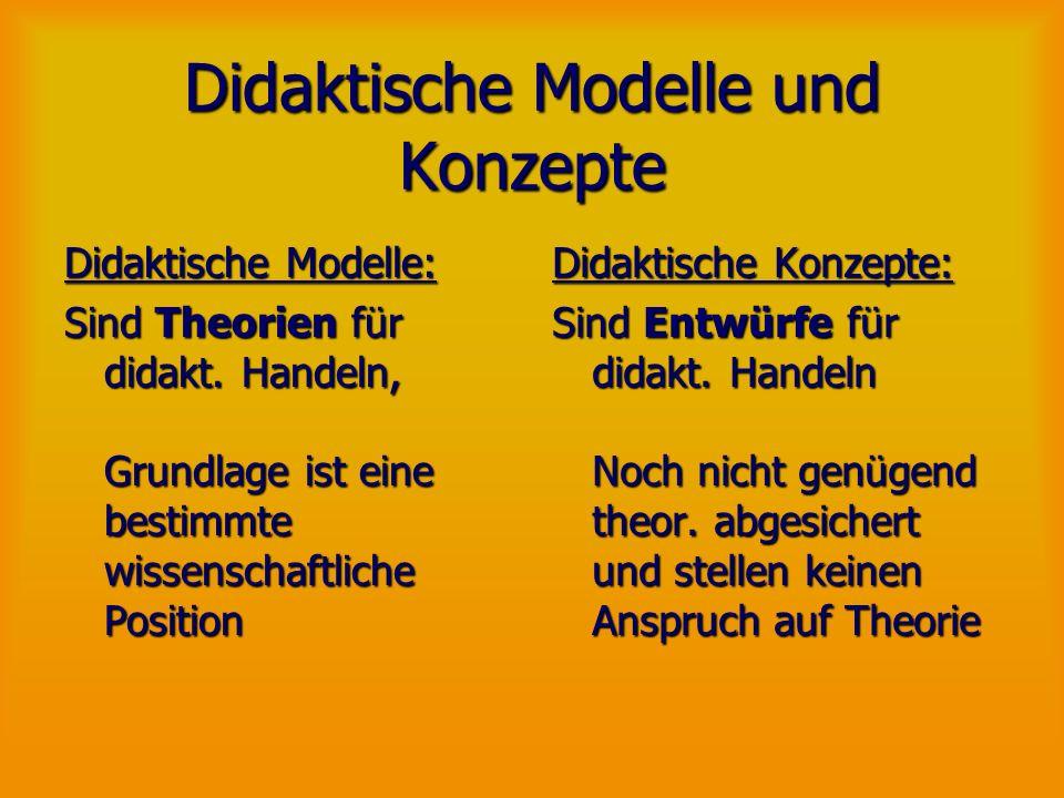 Didaktische Modelle und Konzepte