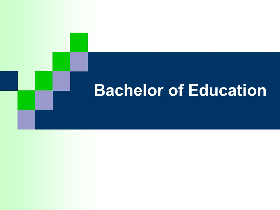 Bachelor of Education