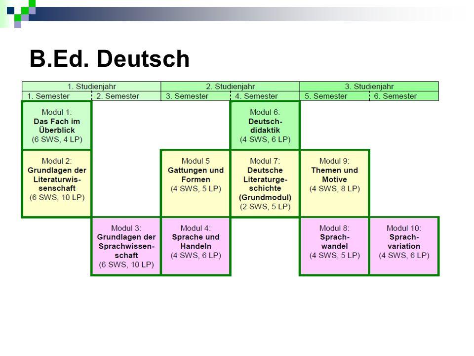B.Ed. Deutsch