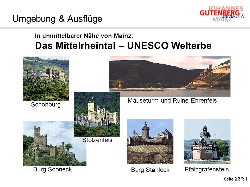 Das Mittelrheintal – UNESCO Welterbe