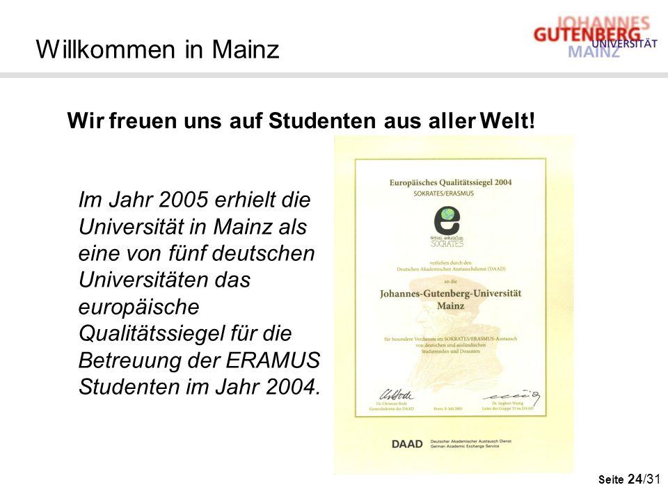 Willkommen in Mainz Wir freuen uns auf Studenten aus aller Welt!