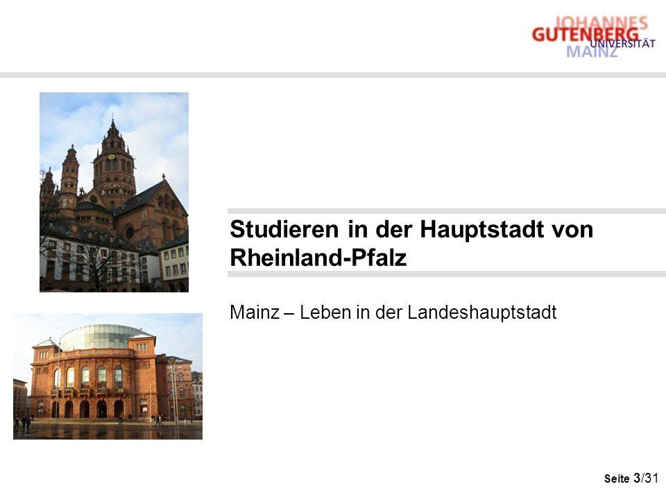 Studieren in der Hauptstadt von Rheinland-Pfalz Mainz – Leben in der Landeshauptstadt