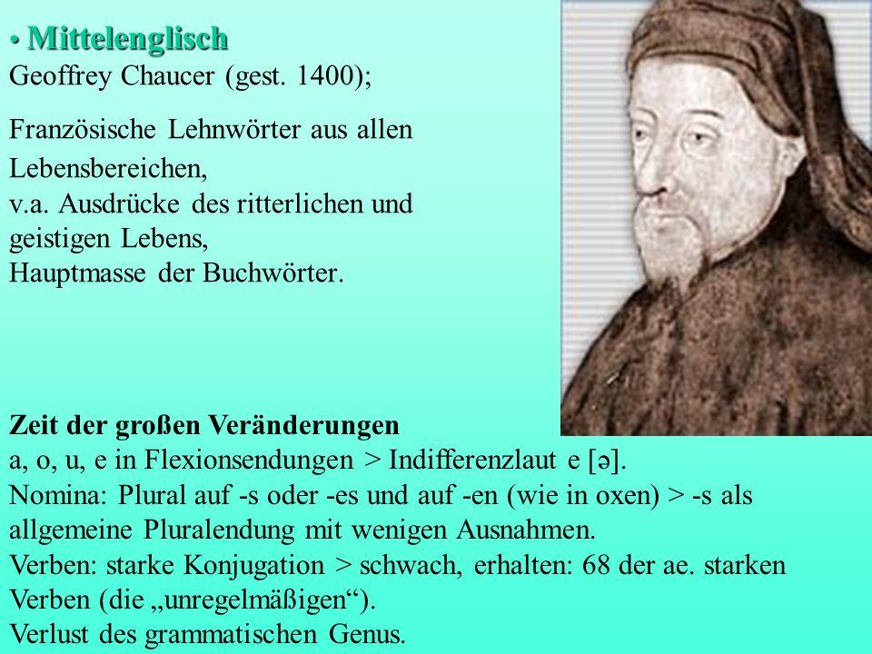 Mittelenglisch Geoffrey Chaucer (gest