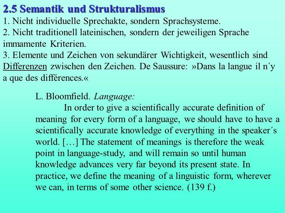 2.5 Semantik und Strukturalismus
