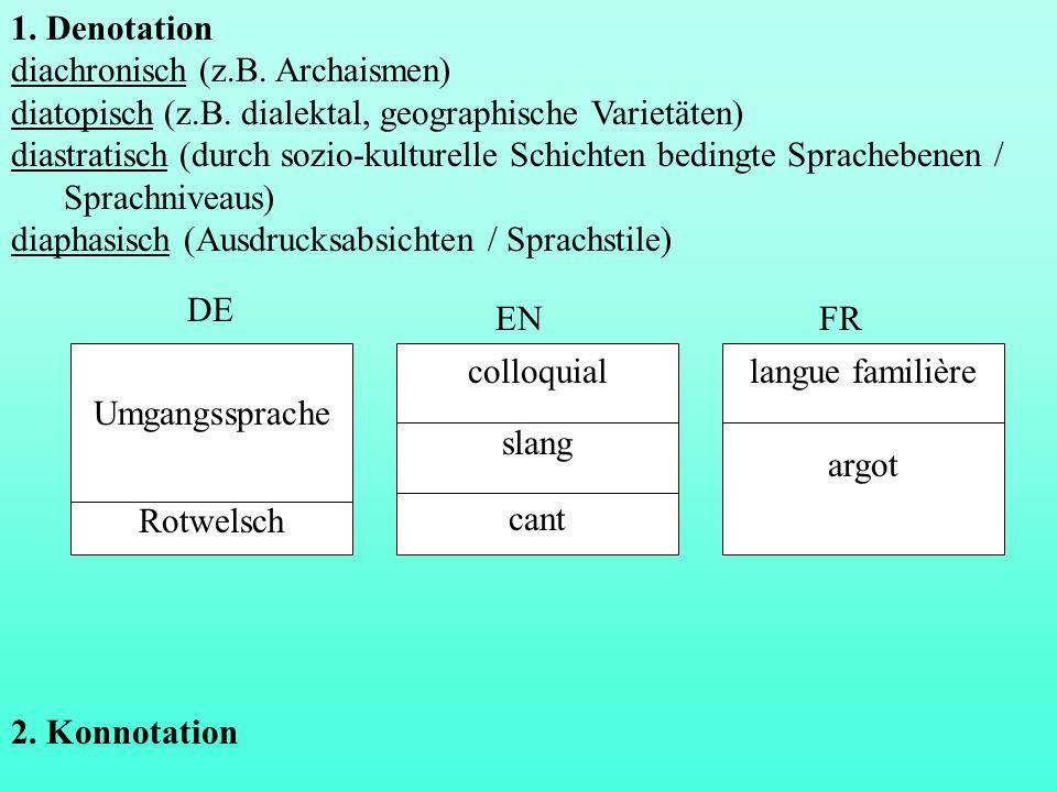 diachronisch (z.B. Archaismen)