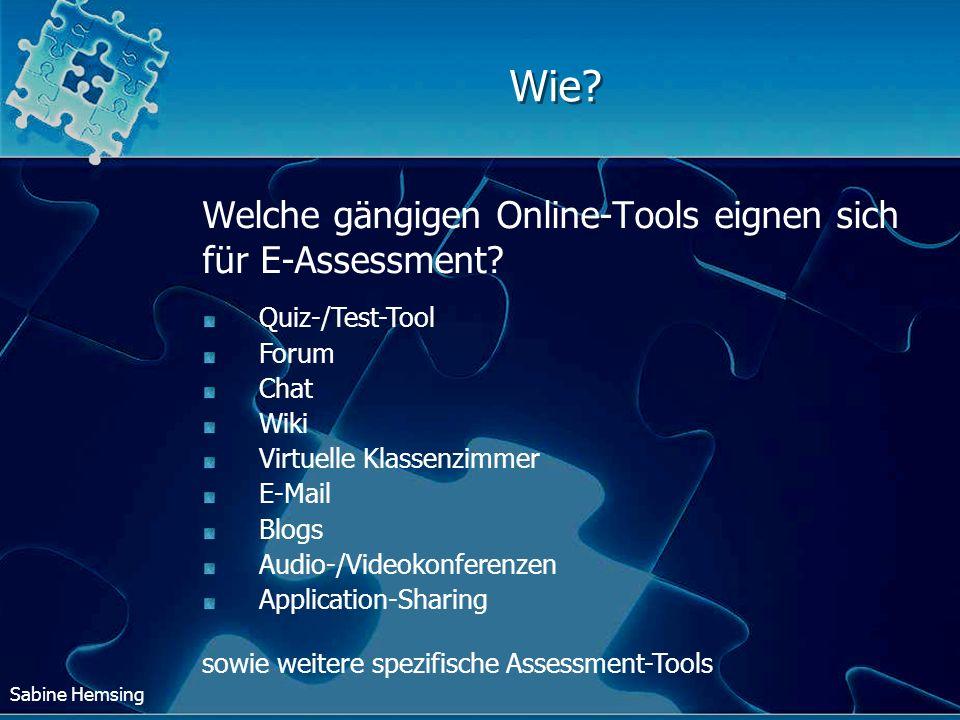 Wie Welche gängigen Online-Tools eignen sich für E-Assessment