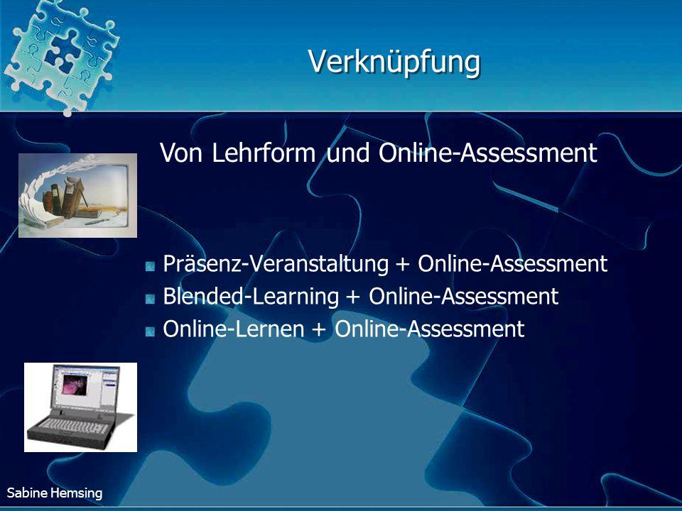Verknüpfung Von Lehrform und Online-Assessment