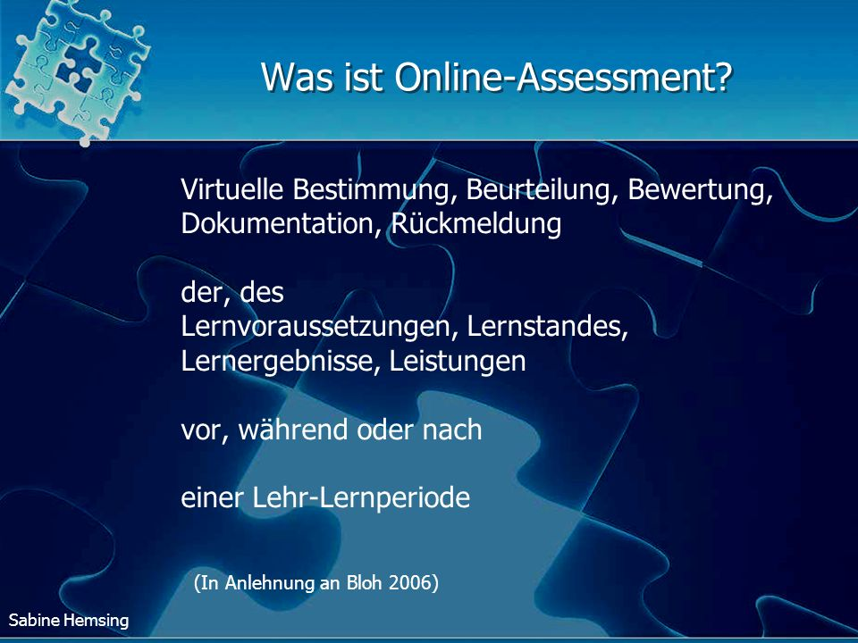Was ist Online-Assessment