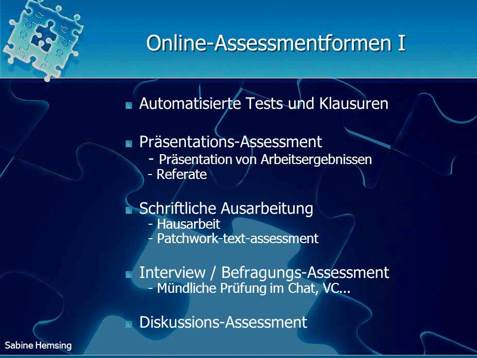 Online-Assessmentformen I